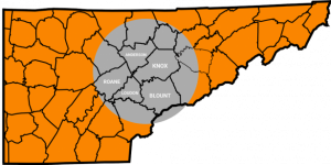 East Tennessee Service Map